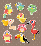 Bird stickers Stock Photos