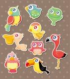 Bird stickers Stock Photos