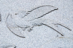 Bird Stone carving Stock Image