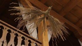 Bird from Straw Handmade stock video footage