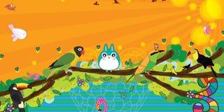 Bird style banner Stock Photos