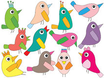 Bird Style Set Stock Photos