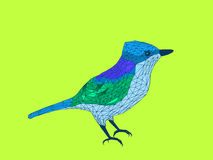 Bird. Stylized illustration of birds in the form of polygons Stock Images