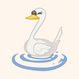 Bird swan cartoon theme elements vector,eps Royalty Free Stock Photo