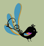 Bird with swirl Royalty Free Stock Photography