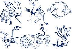 Bird symbol design Stock Photo