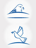 Bird symbol Royalty Free Stock Photography
