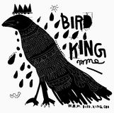 Bird. The symbolic image of a bird that resembles a crow Stock Photography