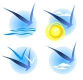 Bird symbols set Stock Images