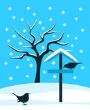 Bird table and birds Stock Image