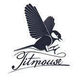 Bird titmouse  logo Royalty Free Stock Photos
