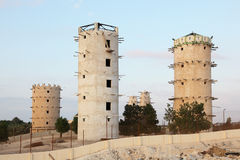 The bird towers in Qatar Royalty Free Stock Image