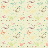 Bird and tracks pattern Royalty Free Stock Images