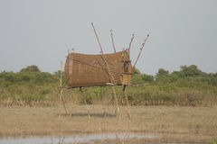 Bird trap of Thai traditional style.  Royalty Free Stock Photos