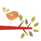 Bird and tree royalty free illustration