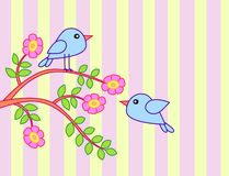 Bird with tree Royalty Free Stock Photo