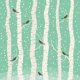 Bird on tree. Birds on the tree. Vector illustration Stock Photos
