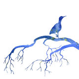 Bird at tree silhouettes Stock Images