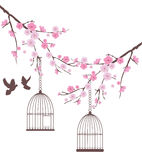 Bird Tree Royalty Free Stock Images
