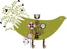 Bird and tree wallpaper Royalty Free Stock Photo