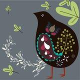 Bird and tree wallpaper Stock Photography