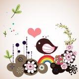 Bird and tree wallpaper Stock Photo
