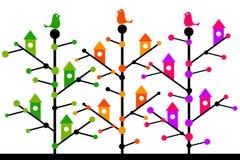 Bird trees vector illustration