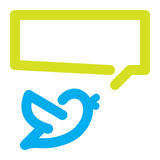 Bird tweets icon Royalty Free Stock Photography