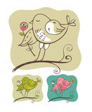 Bird(vector) Royalty Free Stock Photos