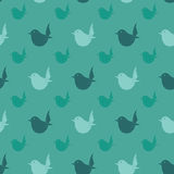 Bird vector art background design for fabric and decor. Stock Photo
