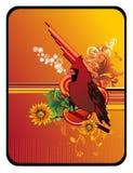 Bird vector composition Stock Image