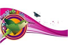 Bird vector composition Royalty Free Stock Photo