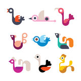Bird vector icon set Royalty Free Stock Photo
