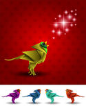 Bird vector origami Royalty Free Stock Photography