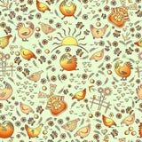 Bird vector yard-09 royalty free illustration