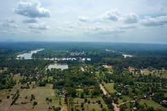 Bird view of Angkor Wat Stock Photos