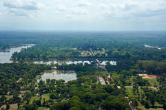 Bird view of Angkor Wat Stock Images