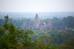 Bird view of Angkor Wat Royalty Free Stock Photography