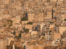 Bird view on arabic city. Middle East. Bird view on Amman. Jordan. Middle East Stock Photography