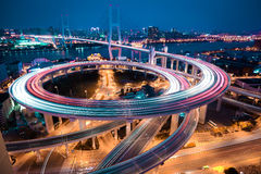 Bird view at Asia's largest across the rivers in a spiral bridge Stock Photo