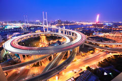 Bird view at Asia's largest across the rivers in a spiral bridge Royalty Free Stock Photography