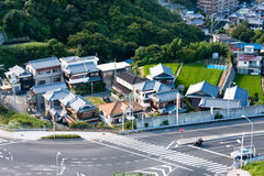 Bird view of Avajishima. Japan Stock Images