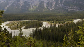 BIRD VIEW ON BANFF NATIONAL PARK Royalty Free Stock Photography