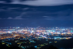 The bird view of the Cebu city. The beautiful bird view of the Cebu city from the tops outlook of the Phlippines Stock Image