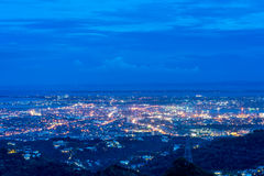 The bird view of the Cebu city. The beautiful bird view of the Cebu city from the tops outlook of the Phlippines Stock Photography