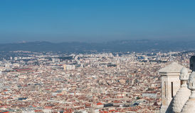 Bird view of the city Marseille, France Royalty Free Stock Photography