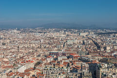 Bird view of the city Marseille, France Stock Photography