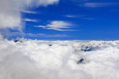 Bird view of cloud and sky Stock Images