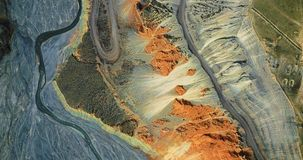 Bird View of Colorful Grand Canyon Stock Image