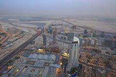 Bird View of Dubai from the Top of Burj Khalifah Stock Image